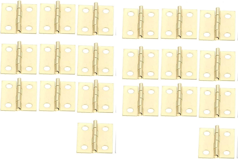 BUYYUB 20pcs Plata/Gabinete De Puerta Dorada Mini Bisagra, También Se Puede Utilizar para Joyería Caja De Madera Hardware Muebles Bisagra 18 * 16mm (Color : Gold)