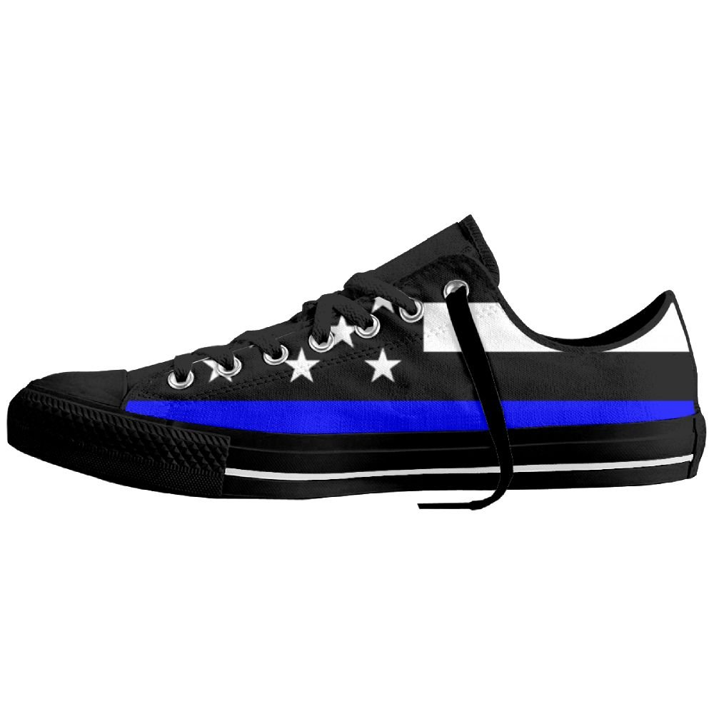 Support Police Unisex Classic Canvas Lace Up Shoes Sneakers For Men /& Women