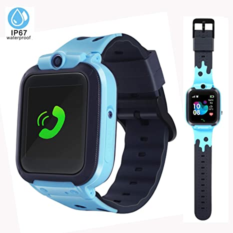 LTAIN Kids Smartwatch Waterproof Smart Watch for Kids with GPS Tracker SOS Camera Alarm Clock Security Zone Voice Chat Smartwatch for Kids with Phone ...