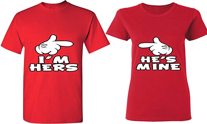 17f697503d Amazon.com: I'm Hers & He is Mine - Matching Couple Shirts - His and ...