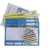 Casa de la tarjeta y Papel gráfico de pared para incentivar, 4gráficos y lámina de 225de estrella pegatinas en cada paquete
