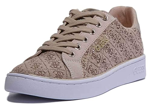 GUESS, BECKIE2 Brown Zapatilla Beige Logo guess para Mujer: Amazon.es: Zapatos y complementos