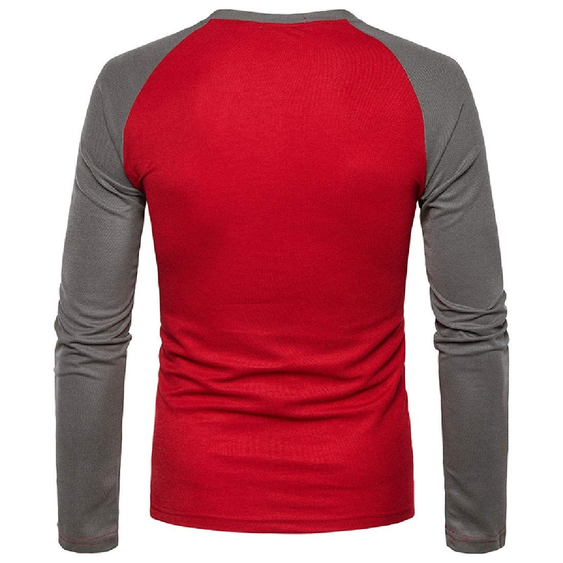 Zimaes-Men Spell Color Long Sleeve T-Shirts Polo Shirt Classic Tops