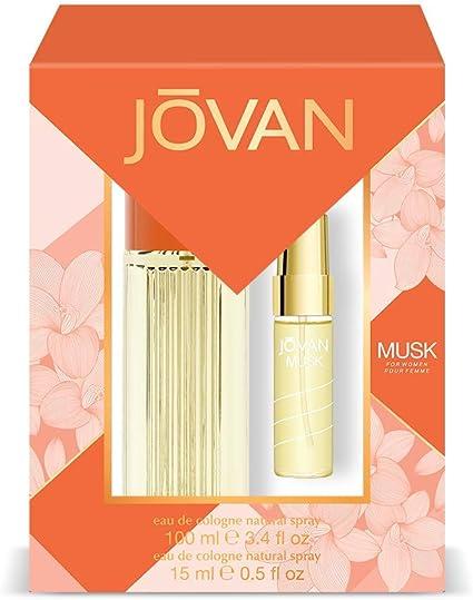 Jovan Musk Pack Mujer: Eau de Cologne Natural Spray 100 ml + Eau de Cologne Natural Spray 15 ml: Amazon.es: Belleza