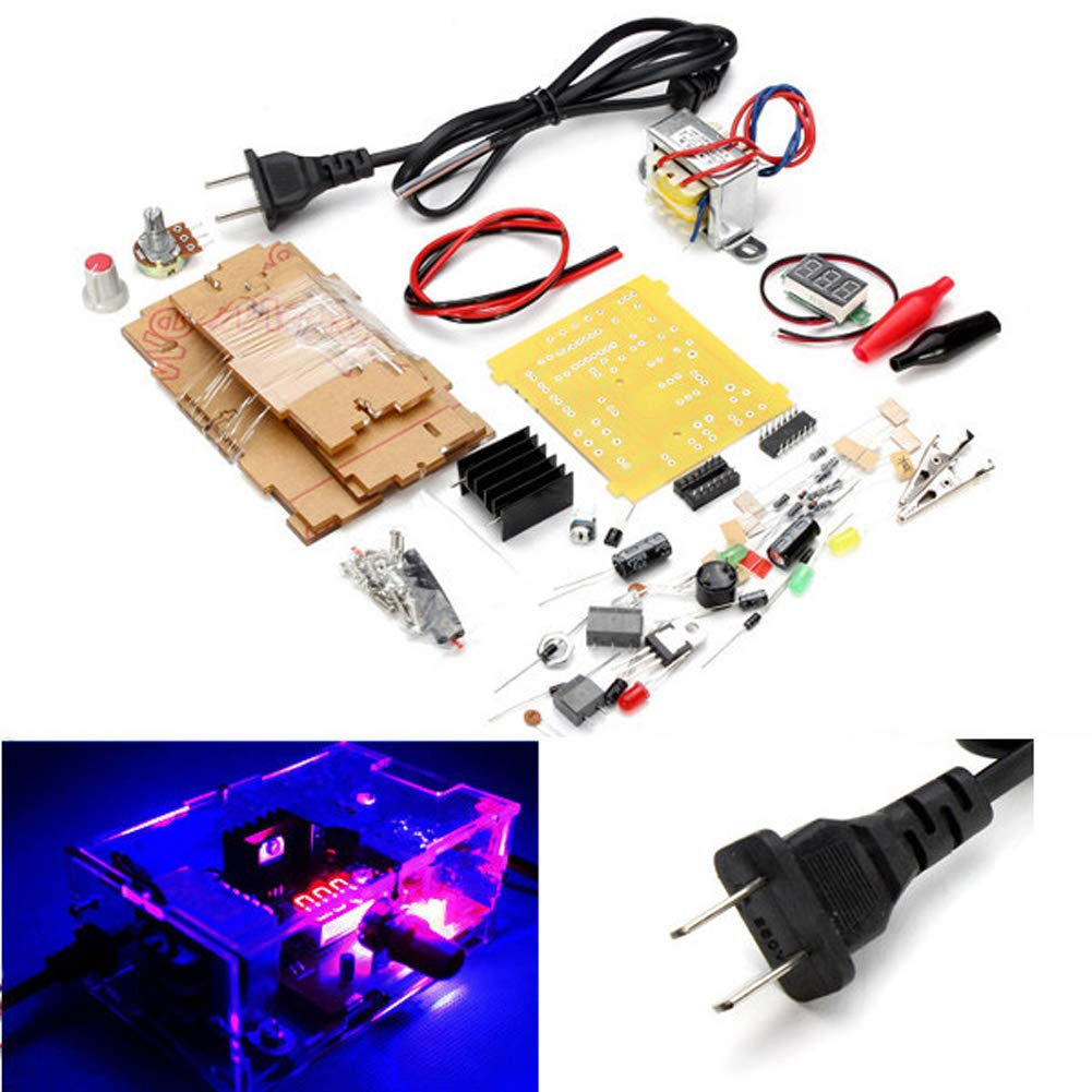 Generic Us Plug 110v Diy Lm317 Adjustable Voltage Power Usb Car Charger Adapter Circuit Design Using Regulator Supply Board Kit With Case Electronics