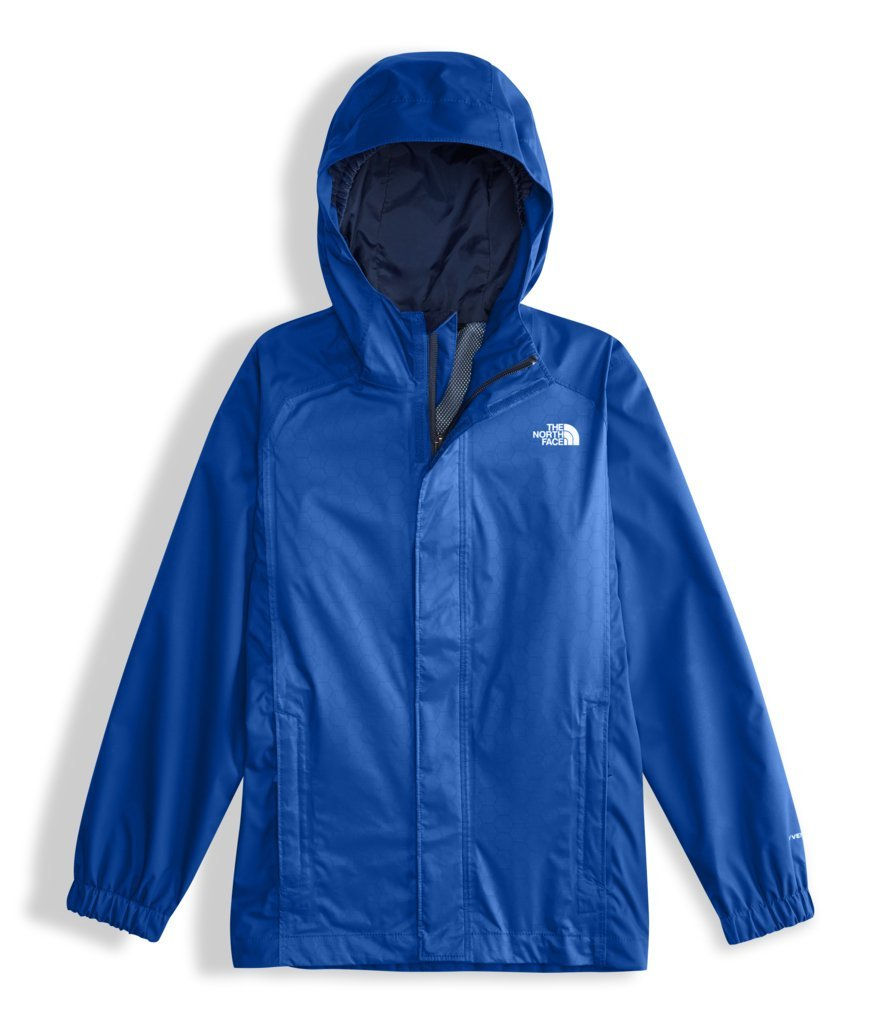 The North Face Boy's Women's Resolve Reflective Jacket - Bright Cobalt Blue Hex Emboss - L (Past Season)