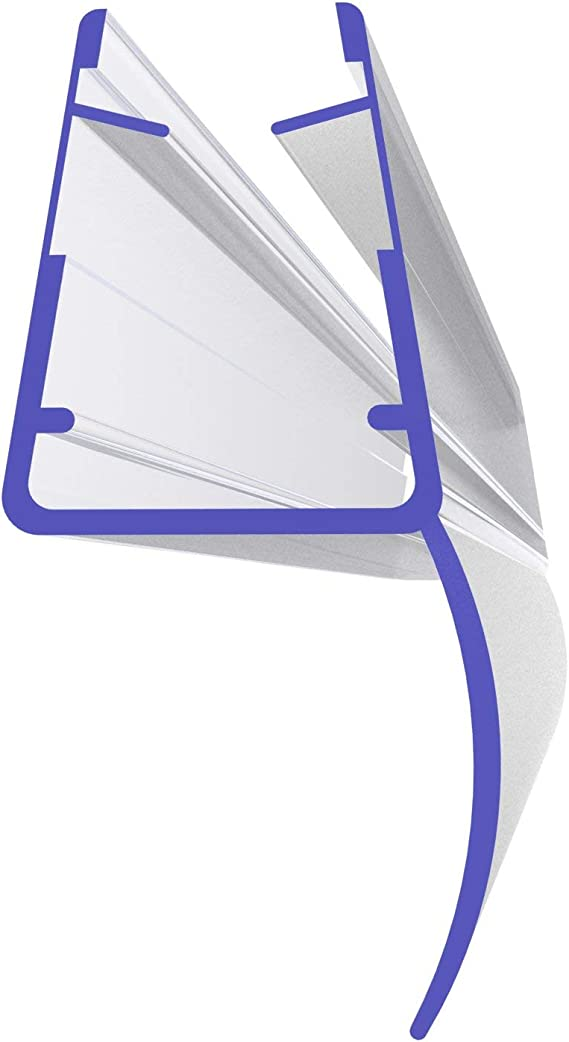 60cm UK01 Ersatzdichtung f/ür 4mm// 5mm Glasdicke Wasserabweiser Duschdichtung Schwallschutz Duschkabine Duschprofil Duscht/ürdichtung