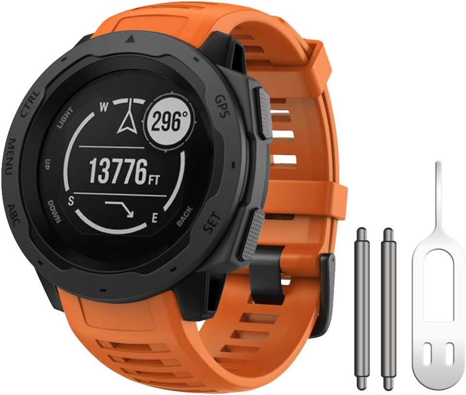 Malla Para Reloj Garmin Instinct 130-220mm.Naranja