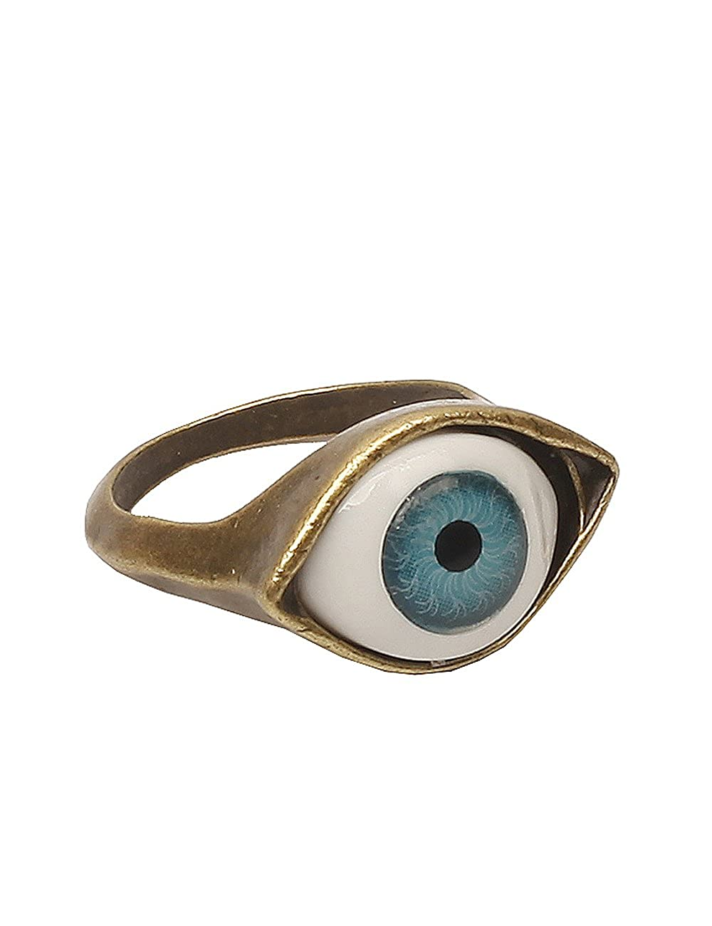 Lovers2009 Punk Style Retro Exaggeration Blue Eye Ring B00DE6OGHU_US