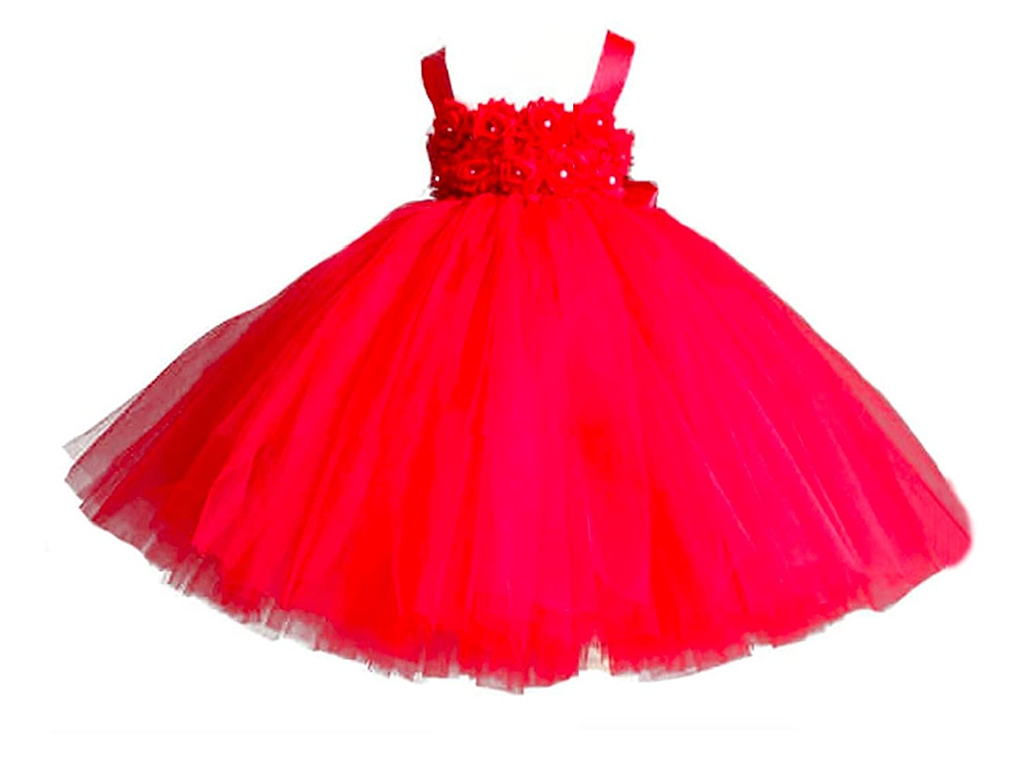 MALIBULICo Handmade Flower Girl Dress with Matching Headband for Weddings and Pageant MagicTulleCouture