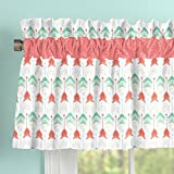 Carousel Designs Coral and Teal Arrow Window Valance Rod Pocket