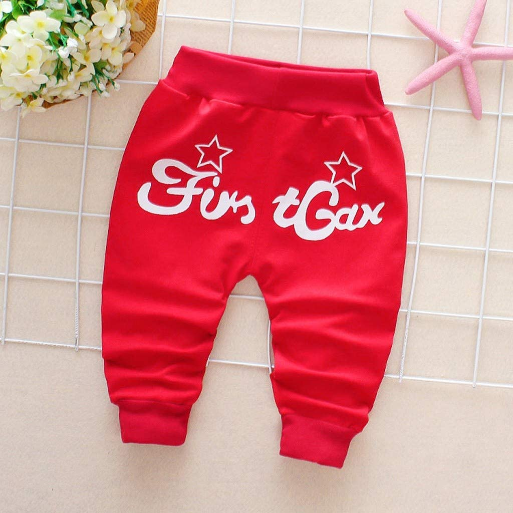Toraway Baby Kids Cute Cartoon Pants Boys Girls Cartoon Shark Tongue Harem Pants Trousers Thick Pants 6Months-3Years
