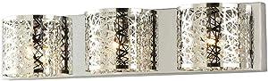 Carterton 3-Light Chrome Vanity Light