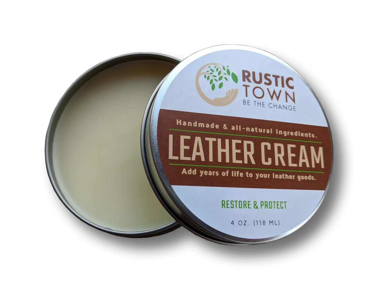Leather Cleaner and Conditioner Cream for Bags - Leather Restorer & Conditioner Care Kit by Rustic Town