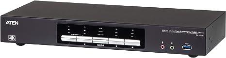 Conmutador KVMP de 4 puertos USB 3.0 4K de doble pantalla ATEN CS1944DP   ATEN España   líder del mercado de KVM: Aten: Amazon.es: Informática