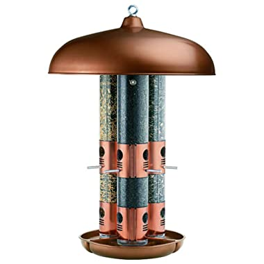 Perky-Pet 7103-2 Copper Finish Triple Tube Bird Feeder