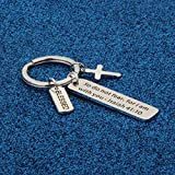 WUSUANED Christian Keychain Gift Do Not Fear for