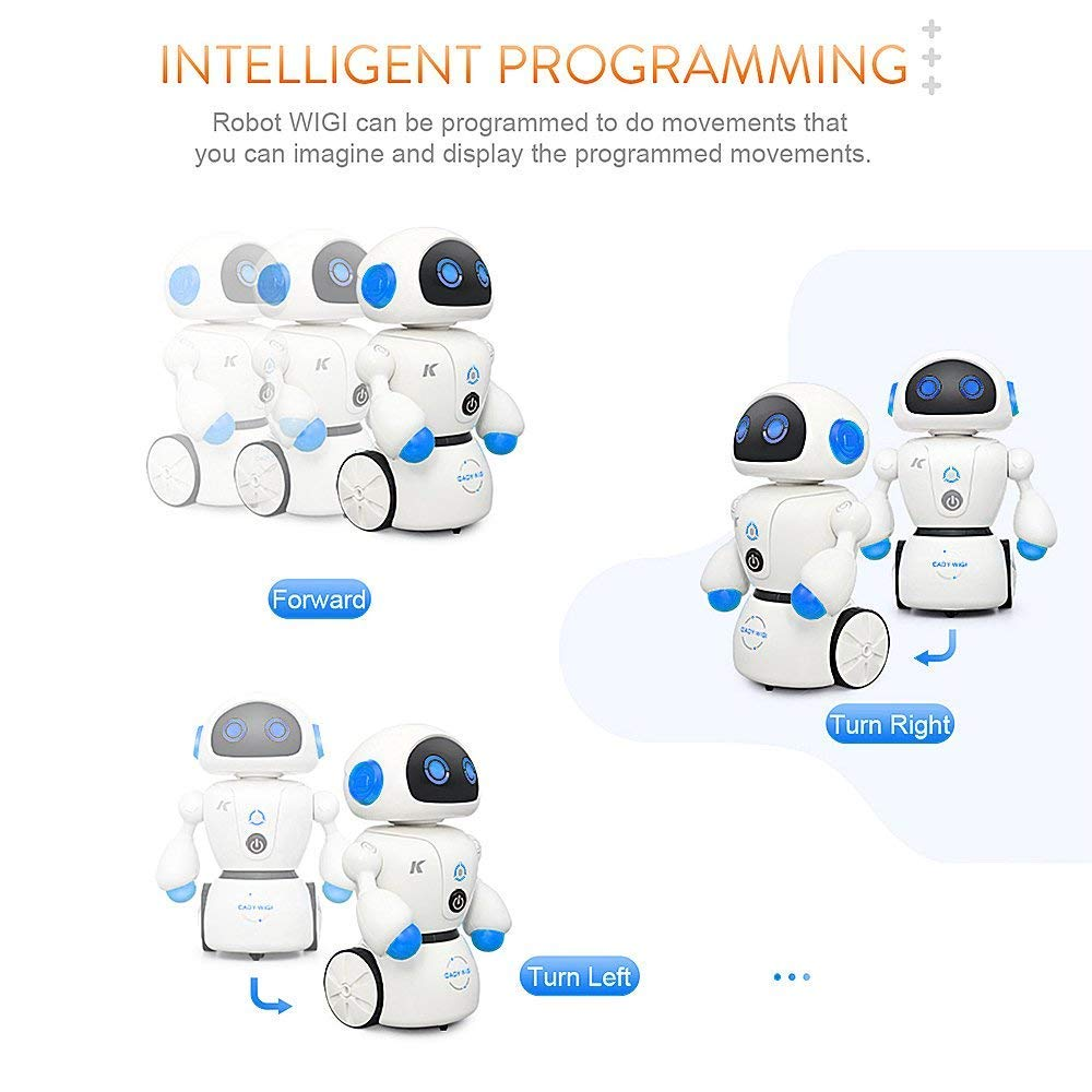 MODELTRONIC JJR//C R6 Cady WIGI Inteligente Robot con Mando a Distancia Regalo ni/ños Baila con m/úsica Modo de Seguimiento de L/ínea Programable USB