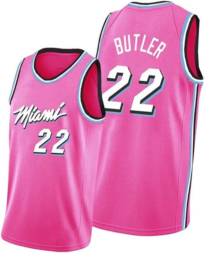 Mens and Womens Basketball Jerseys 22 Butler for The Heat Suitable for No The Best Gift Embroidery Basketball Jerseys Washable Repeatedly