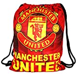 Fusine™ The Football Fever - Premium Polyester 11Litres Drawstring Bags for Boys/ Girls. Perfect for Sports, Beach Holidays, Swimming, Travel (Manchester United -2)