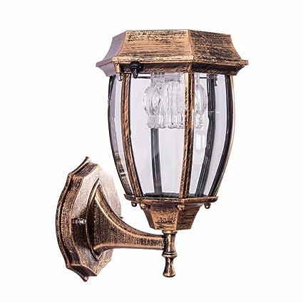 Rventric Solar Motion Sensor Light Vintage Outdoor Wall Lamp Aluminum  Waterproof Sensor LED Garden Lights Landscape - Rventric Solar Motion Sensor Light Vintage Outdoor Wall Lamp