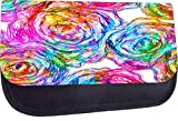 Rosie Parker Inc. TM Pencil Case Made in the U.S.A.- Abstract Rose Art Print Design