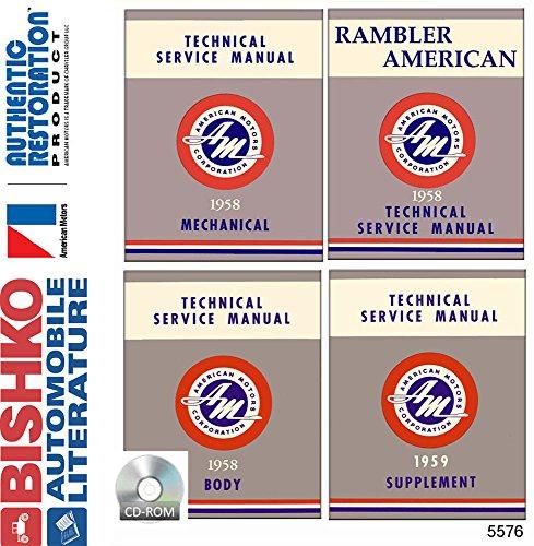 1958 1959 AMC Rambler Rebel Classic Shop Service Repair Manual CD Engine Wiring