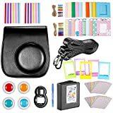 Neewer Black 10 in 1 Accessories Kit For Fujifilm Instax Mini 8/8s: Camera Case; Album; Selfie Lens;4 Colored Filter;5 Film Table Frame;20 Wall Hanging Frame;40 Border Sticker;2 Corner Sticker; Pen
