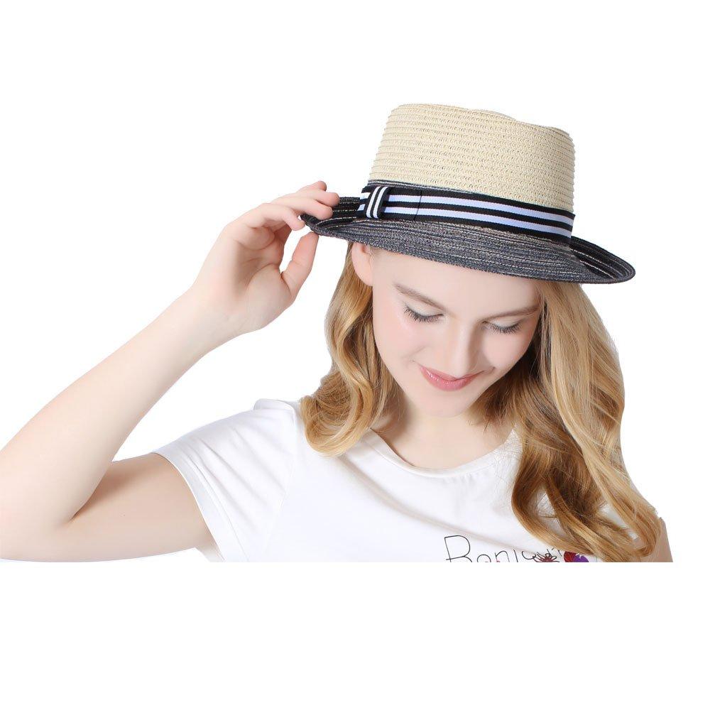 Koola's hats Woven Paper Straw Fedora Hat Braid Pork Pie CM-0068