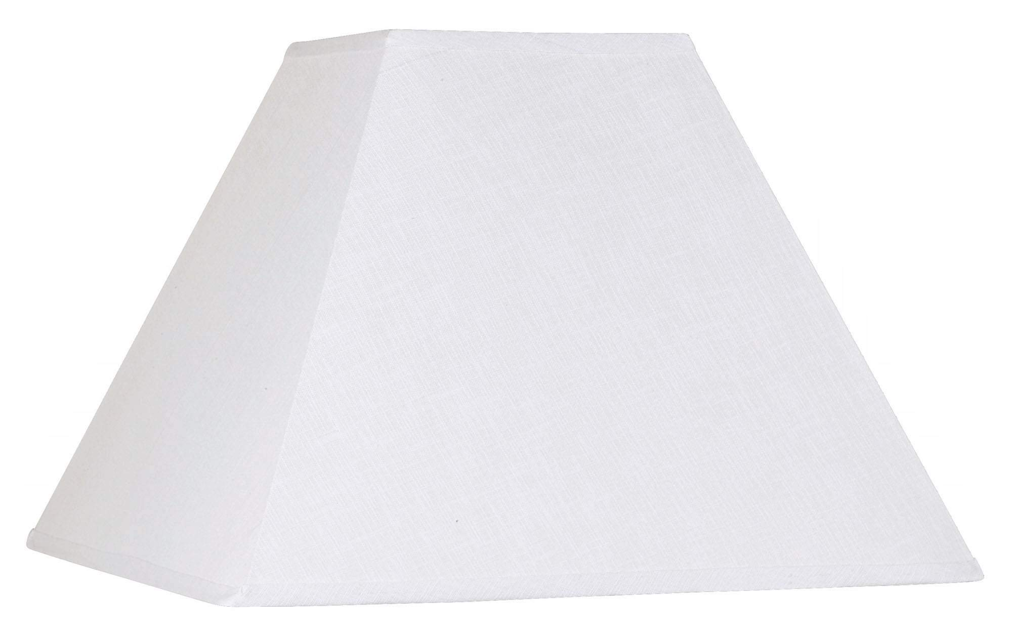 White Linen Square Lamp Shade 7x17x13 (Spider) - Brentwood