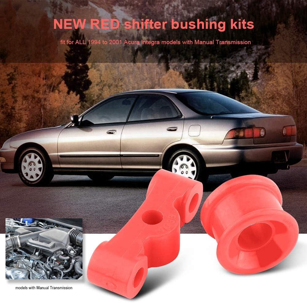 Fydun Red Polyurethane Car Auto Shifter Bushing Kit 2Pcs for Honda Civic 1984-1987 Acura Integra 1994-2001 Shifter Bushing Kits