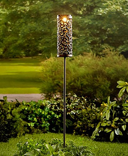 Intricately Designed Metal Solar Lantern Stake - Intricately Designed
