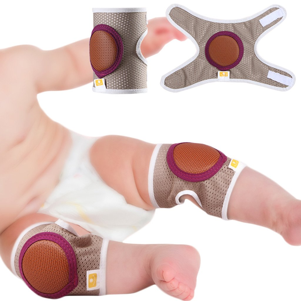 Baby Crawling Knee Pads, Toddler Anti-Slip Elbow Pads, Dual Purpose Safety Protection 2 Pcs