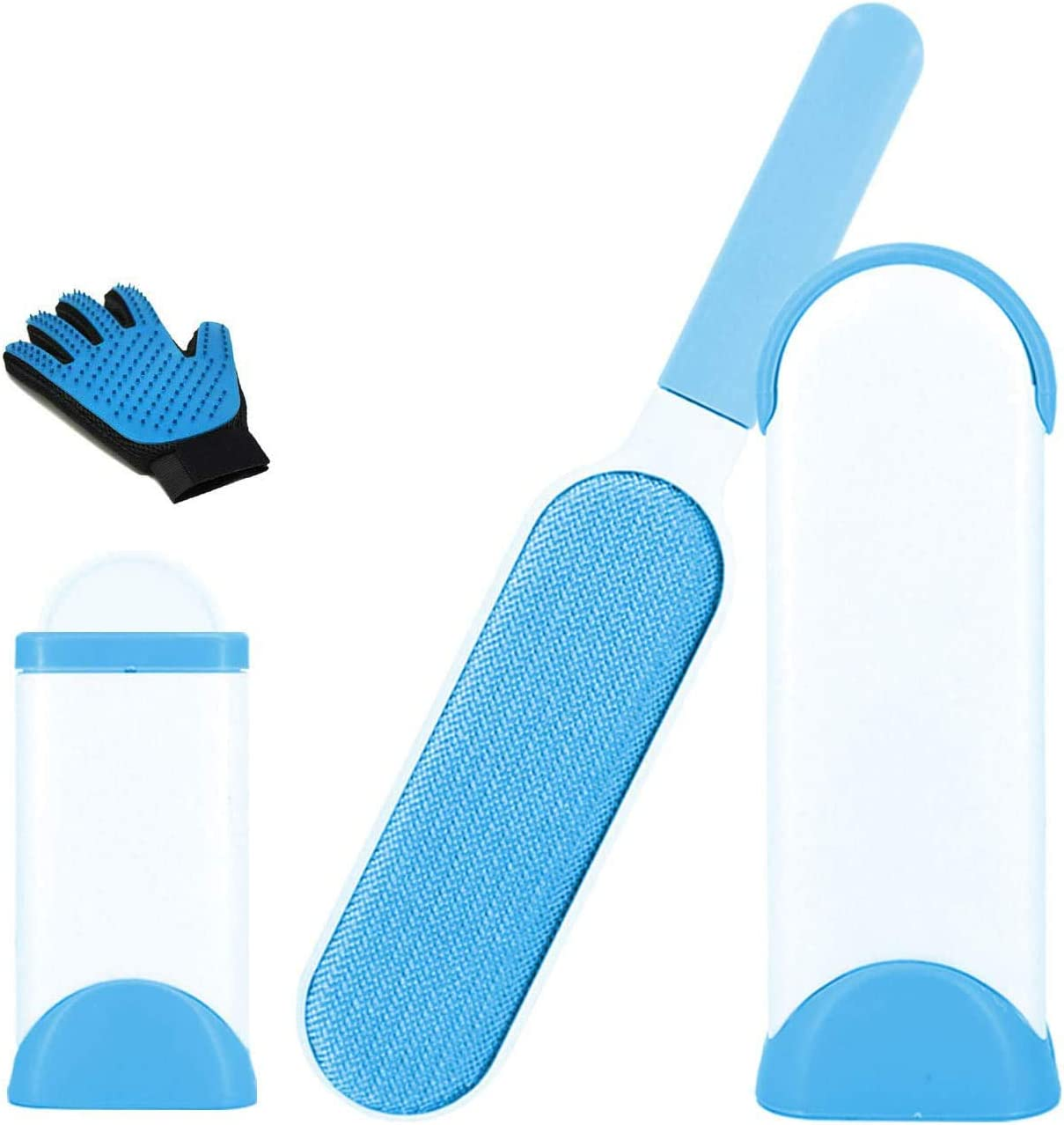 Showvigor House Pet Hair Remover Brush-Dog Cat Hair Remover for Furniture with Pet Grooming Glove-Lint Rollers for Lint Brush for Clothing Car Seat
