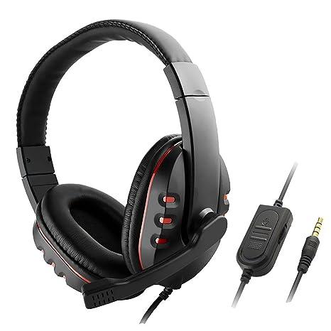 MagiDeal Gaming Headset 3.5mm Jack PC Stereo di Gioco Cuffia con Microfono  per Cellulari PS4 8cf5e782f719