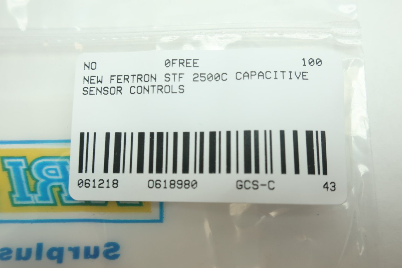 FERTRON STF 2500C CAPACITIVE Sensor D618980: Amazon.com: Industrial & Scientific