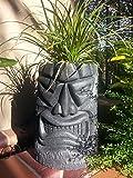 Angry Tiki Planter (Black Granite)