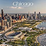 Chicago 2019 12 x 12 Inch Monthly Square Wall Calendar, USA United States of America Illinois Midwest City (English, French and Spanish Edition)