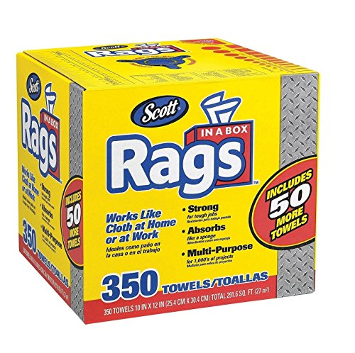 Price comparison product image Doaaler(TM) Scott Shop Rags In A Box 350 Count White Soft and Low in Lint 75650 - New Item