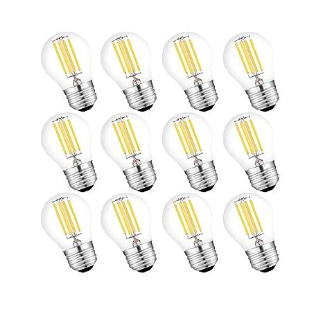 Engeya G45 E27 Bombilla LED de filamento, rosca Edison LED E27 bolas de golf transparente, ...