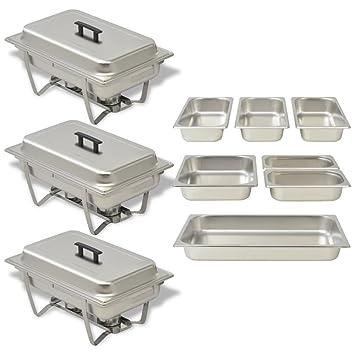 2x Chafing Dish Starter Set Speisewärmer Warmhaltebehälter Rechaud ZORRO