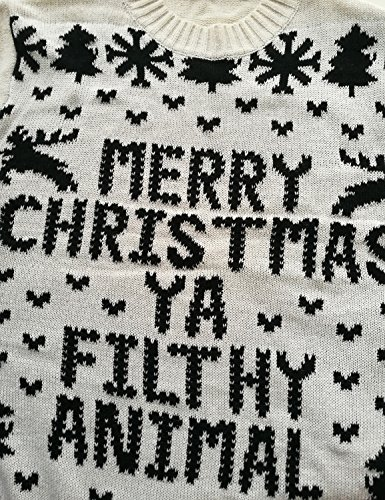 70%OFF Choco Mocha Women\'s Christmas Pattern Letters Knit Pullover ...