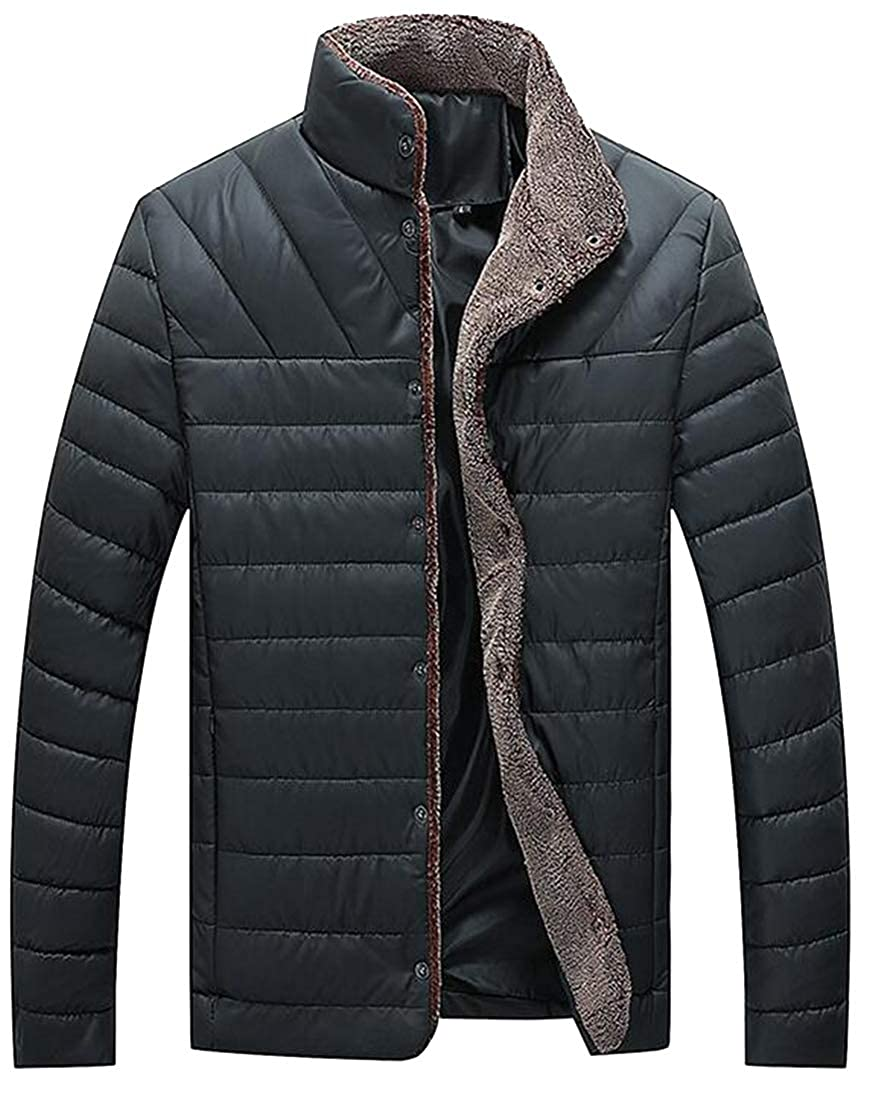 Bravepe Men Fleece Fall /& Winter Plus Size Thicken Warm Quilted Jacket Coat Outerwear