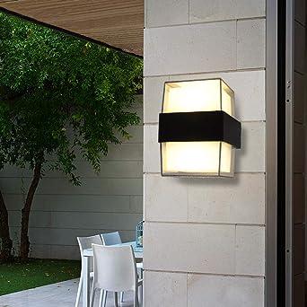 Artpad Interior al aire libre Porche Jardín Luces LED, ARRIBA y Abajo Impermeable IP65 Apliques modernos Apliques de iluminación de pared al aire libre para balcón Baño Pasillo Pasillo-Blanco cálido: Amazon.es: Iluminación