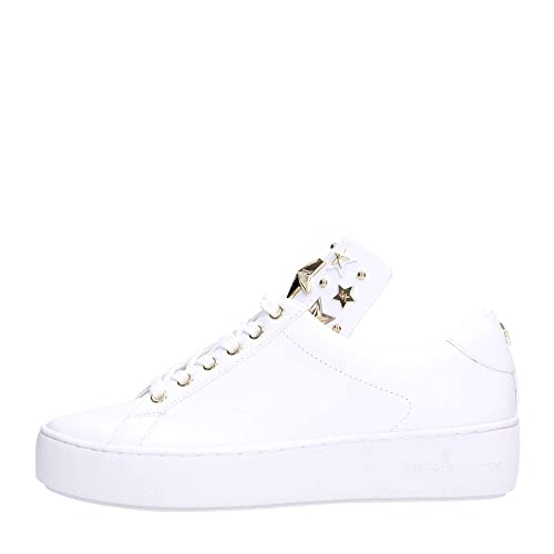 925e3315ae1e9 Michael Kors Mindy Lace Up Leather 43R9MNFS6L Optic White Gold Women s Shoes  New  Amazon.co.uk  Shoes   Bags