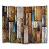 DEQI Vintage Wood Texture Decorative Wall Tapestry (5951INCH)