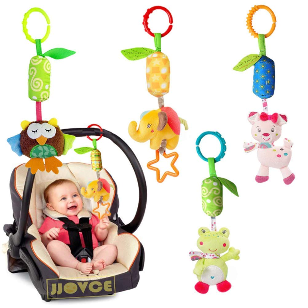 LQT Ltd New Baby Crib Stroller Cot Buggy Pram Car Seat Revolving Hanging Rattles Dangle Baby Toy Infant Mobiles Rattles Handbell Toys
