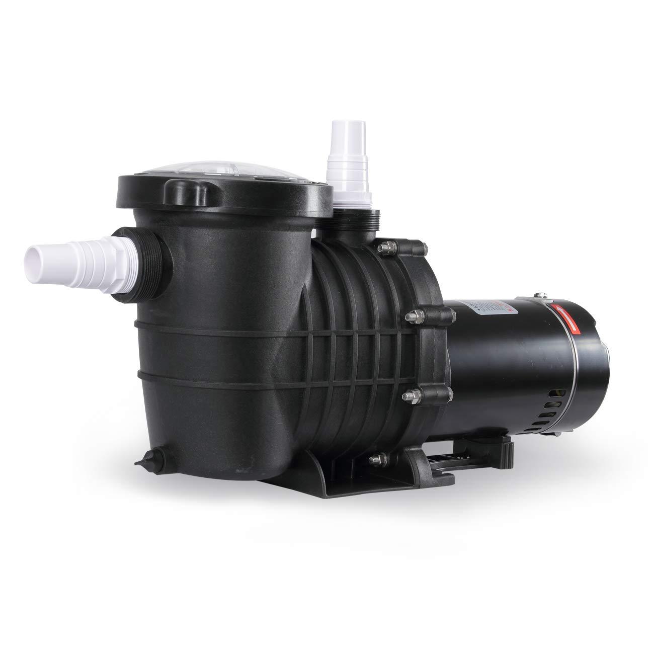 ARKSEN 1.5HP Heavy Duty Swimming Pool Pump High-Flo Motor UL Listed Pool Spa Energy Saving 1-1/2'' NPT w/Hose Adapters