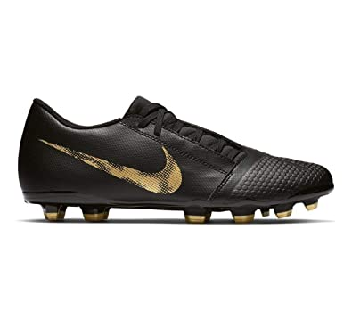 92e2bee38 Nike Men s Phantom Venom Club FG Soccer Cleat Black Metallic Vivid Gold  Size 6.5 M