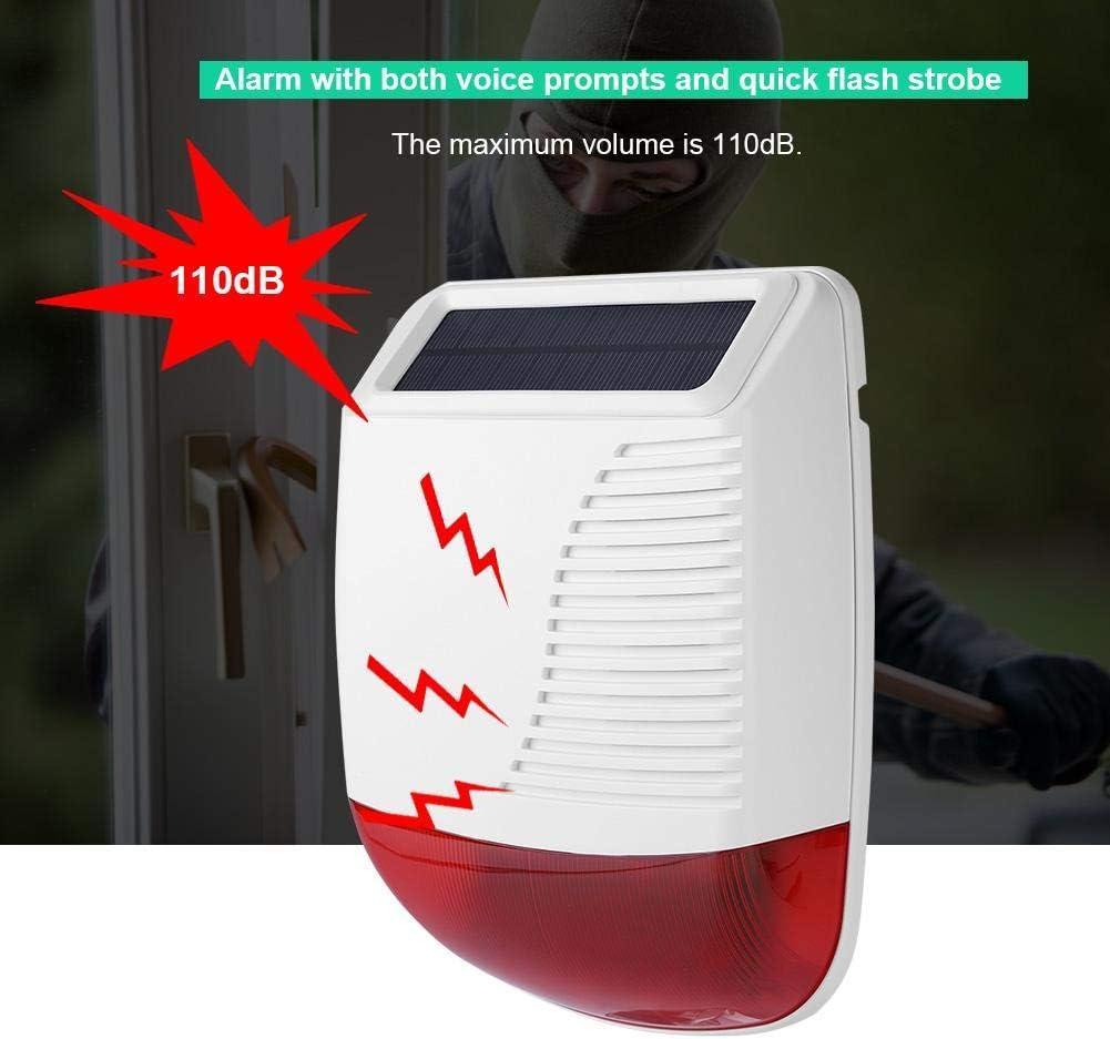 110 DB Alarme sonore sans Fil 433 MHz pour syst/ème dalarme GSM Syst/ème dalarme de s/écurit/é puissante pour Entreprise et Maison